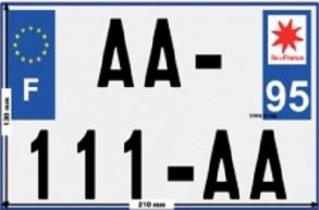 Deux-roues motorisés : uniformisation des plaques d'immatriculation